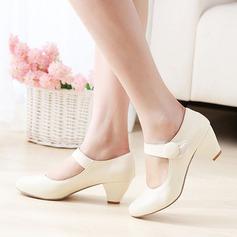 Donna Similpelle Tacco spesso con Velcro scarpe (085114620)