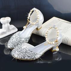 Fille de bout rond Bout fermé similicuir Chaussures de fille de fleur (207200913)