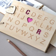 Personalized design Wood Guestbook (101198166)