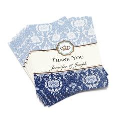 personnalisé Conception Florale Papier Merci des cartes (Lot de 50) (114032188)