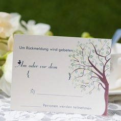 Personalized Modern Style Response Cards (Set of 50) (114063951)