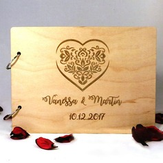 Personalized design Wood Guestbook (101198170)