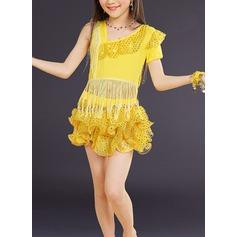 Per bambini Abbigliamento danza Dello spandex Ballo latino Abiti (115168411)