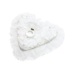 A forma di cuore Anello Scatola in Raso con Strass/Di faux perla (103048745)