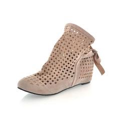 Frauen Wildleder Niederiger Absatz Plateauschuh Geschlossene Zehe Schuhe (088098668)