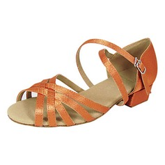Women's Kids' Satin Sandals Flats Latin With Buckle Dance Shoes (053013402)
