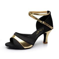 Donna Raso Tacchi Sandalo Latino con Listino alla caviglia Scarpe da ballo (053053116)