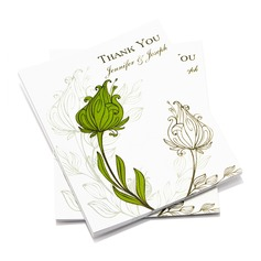 Personalized Floral Style Thank You Cards (Set of 50) (114054970)