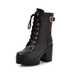 Similicuir Talon bottier Plateforme Bottines chaussures (088056369)