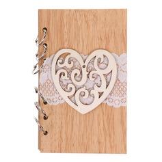 A forma di cuore/Floreale A forma di cuore Legno Blocco per Appunti (Venduto in un unico pezzo) (051166417)