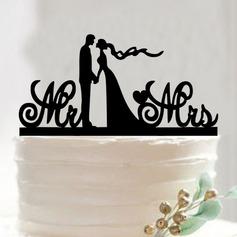 Coppia Classic/Mr & Mrs Acrilico Decorazioni per torte (Venduto in un unico pezzo) (119187353)