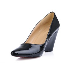 Patent Leather Wedge Heel Closed Toe Wedges Pumps (085017000)