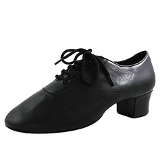 Men's Kids' Real Leather Flats Latin Modern Dance Shoes (053013149)