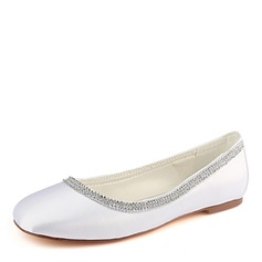 Frauen Seide wie Satin Flascher Absatz Flache Schuhe (047190300)