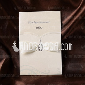 Classic Style Wrap & Pocket Invitation Cards With Ribbons (Set of 50) (114032382)