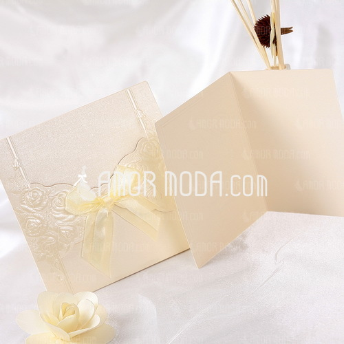 Classic Style Wrap & Pocket Invitation Cards With Ribbons (Set of 10) (114032369)
