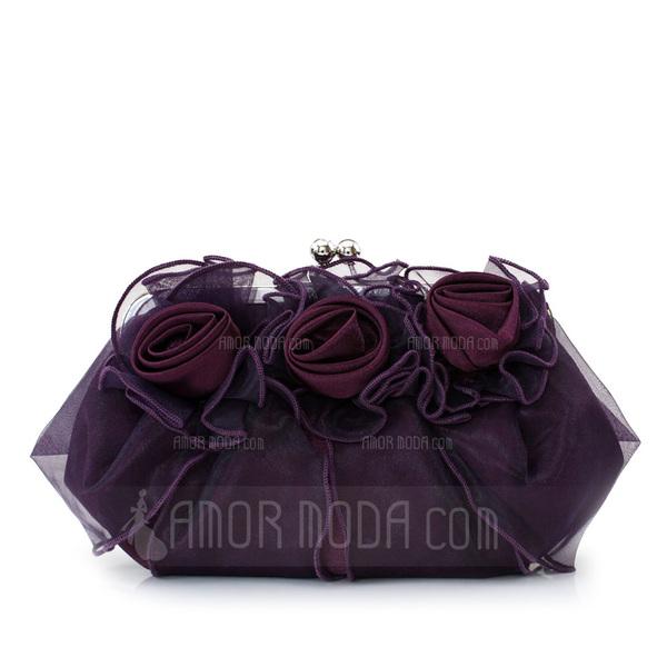 Gorgeous Silk/Tulle Clutches/Satchel (012013430)