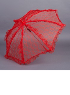Adorable Lace Wedding Umbrellas With Embroidery (124037464)