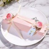 Sweet Love/Lovely Candy Shaped Card Paper Favor Boxes & Containers With Flowers (Set of 12) (050203417)