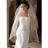 Three-tier Fingertip Bridal Veils With Cut Edge (006036664)