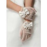Lace Wrist Length Flower Girl Gloves (014205756)
