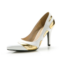 Women's Satin Stiletto Heel Pumps Closed Toe With Split Joint shoes (085059865)