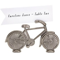 Bicycle Shaped Zinc Alloy Place Card Holders (Set of 4) (051057654)