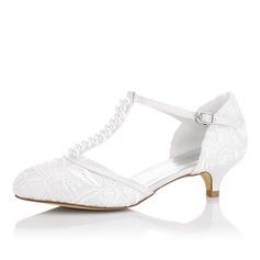 Женщины Атлас Каблук На каблуках с Другие (047102638)