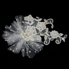 Lovely Lace/Tulle Headbands With Pearl (042025231)