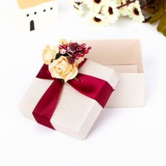 Classic Cuboid Favor Boxes With Flowers (Set of 12) (050039700)