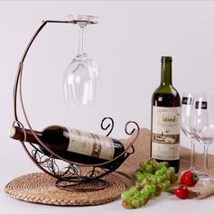 simple classic Iron Wine Rack (203199439)