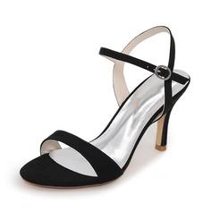 Женщины Замша Высокий тонкий каблук На каблуках Сандалии с Другие (047111555)