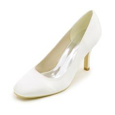 Женщины шелка как атласное Высокий тонкий каблук На каблуках с Другие (047111536)