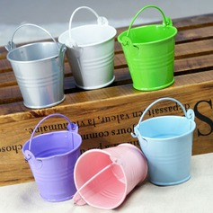 Lovely Cylinder Metal Favor Tins & Pails (Set of 12) (050005515)