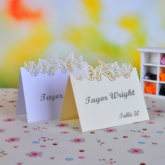 Butterfly Design Pearl Paper Place Cards (set of 12) (050040116)