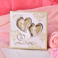 Heart Style Tri-Fold Invitation Cards (Set of 50) (114033287)