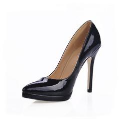 Women's Patent Leather Stiletto Heel Pumps Platform Closed Toe shoes (085015213)